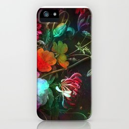 Acid still life floral iPhone Case