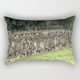 Terrace of Elephants at Angkor Thom, Siem Reap, Cambodia Rectangular Pillow