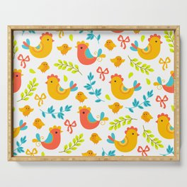 Easter Little Peeps Baby Chicks Pattern Serving Tray