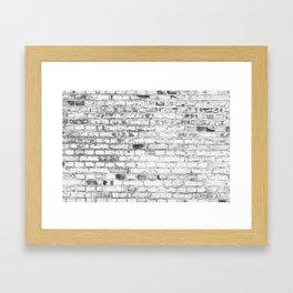 Withe brick wall Framed Art Print