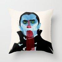 vampire diaries Throw Pillows featuring Vampire by Alvaro Tapia Hidalgo