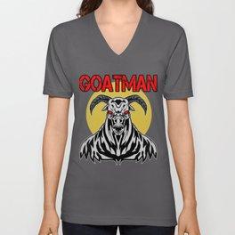 Goatman Sheepsquatch Cryptid Animal Monster Gift Unisex V-Neck