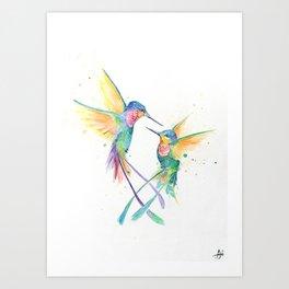 Hopeful Hummingbirds Art Print
