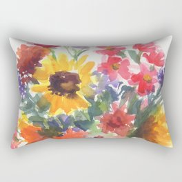 Sunny Summer Sunflowers Rectangular Pillow