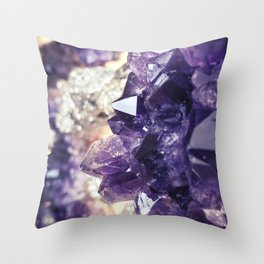 Crystal gemstone - ultra violet Throw Pillow