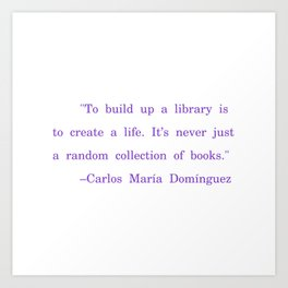 Library is life Art Print