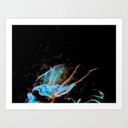 Blue Burst Art Print