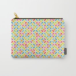 Rainbow Geometric Lattice Circles Pattern Carry-All Pouch