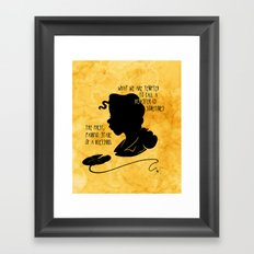 The First, Painful Stage of a Blessing Framed Art Print