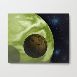 green planet Metal Print
