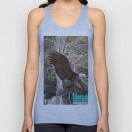 American Eagle and Birch Tree Unisex Tank Top