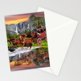 Wells Fargo Stagecoach Stationery Cards