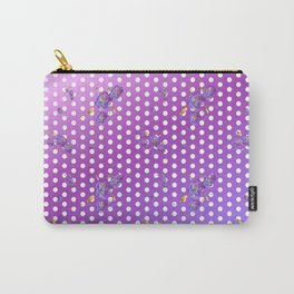 Purple Floral Dot Carry-All Pouch