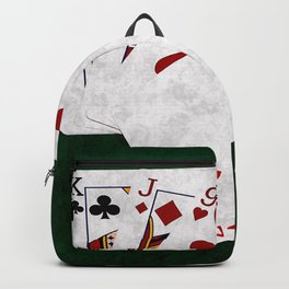 Poker Hand High Card King Jack Nine Four Two Backpack