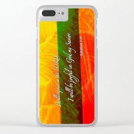 I Will be Joyful! Clear iPhone Case