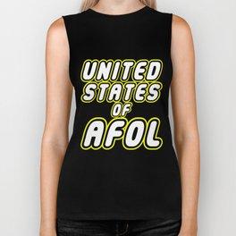 UNITED STATES OF AFOL in Brick Font Logo Design by Chillee Wilson Biker Tank