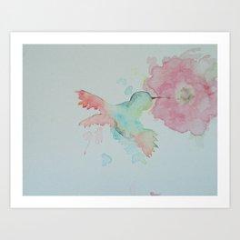 Hungry Hummingbird Art Print