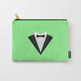 Black Tuxedo Suit with bow tie T-Shirt D946n Carry-All Pouch