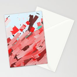Canons of red, purple and brown ink. Stationery Cards