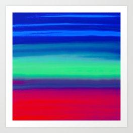 Rocket Blue Art Print