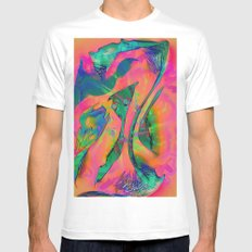 Psychedelic sketch White MEDIUM Mens Fitted Tee