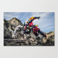 gurren lagann Canvas Prints featuring gurren battle by romar