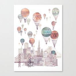 Voyages Over San Francisco ~ Refresh Canvas Print