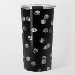 Silver Foil Confetti Travel Mug
