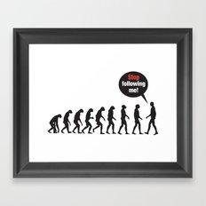 Evolution. Stop Following Me Framed Art Print