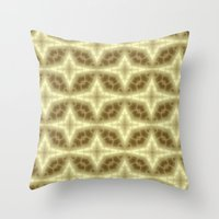 coasters Throw Pillows featuring Abstract Gold Pattern by Lena Photo Art