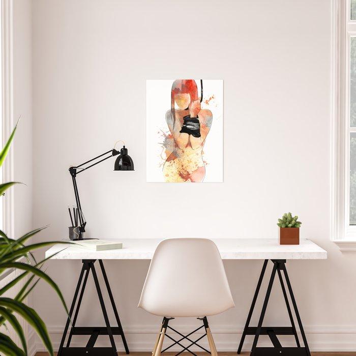 Shibari - Japanese BDSM Art Painting #5 Poster