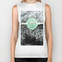 wander Biker Tanks featuring Wander by Rachel Kim Freelance Design
