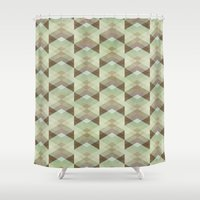 whisky Shower Curtains featuring Hipster Pattern  by Schwebewesen • Romina Lutz