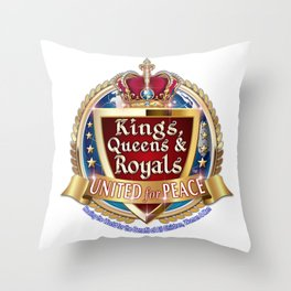 Kings, Queens & Royals United Throw Pillow