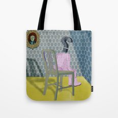 In the dog house. Question series Tote Bag