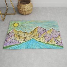 Purple Hills Rug