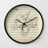 beethoven Wall Clocks featuring Beethoven by bananabread