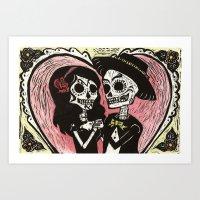 Los Novios (Color Version) Art Print