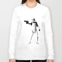 storm trooper Long Sleeve T-shirts featuring Storm Trooper by Christine DeLong Creative Studio