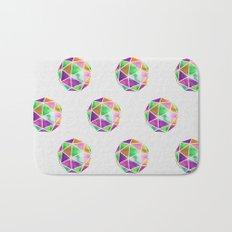 vivid dodecahedron Bath Mat