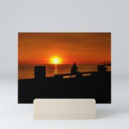Romantic Coastal Urban Scene, Montevideo, Uruguay Mini Art Print