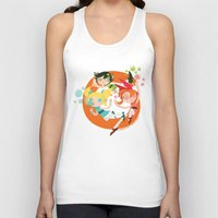 powerpuff girls Tank Tops featuring Powerpuff Loop by DeAnna Marie Johnson