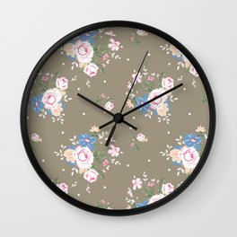 Heirloom Rose - Raw Umber Wall Clock
