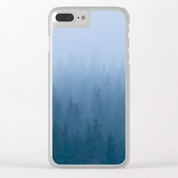 Foggy Forest Clear iPhone Case