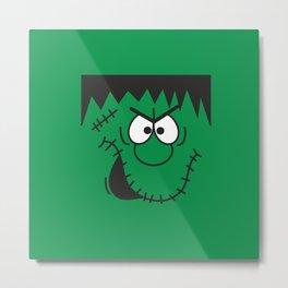 Green Frankenstein Metal Print