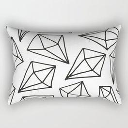 black white diamond pattern Rectangular Pillow