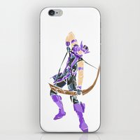 clint barton iPhone & iPod Skins featuring Clint Barton by Tegan New