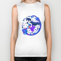 aquarius Biker Tanks featuring Aquarius by DanBee Kim