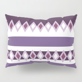 Stripes and diamonds geometric pattern violet light and dark Pillow Sham