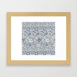 William Morris Navy Blue Botanical Pattern 6 Framed Art Print